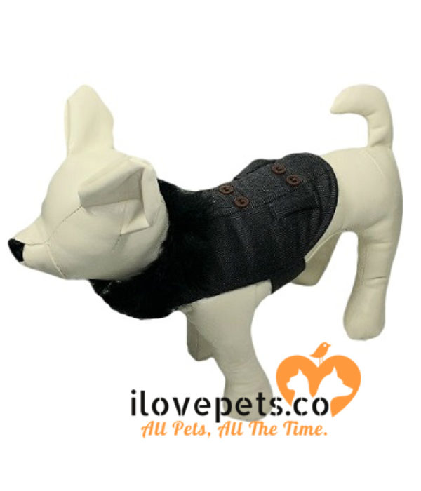 Designer Black Dog Outfit By Fetchwear