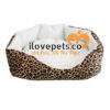 Leopard Print Soft Fleece Cozy Bed For Small Pets