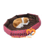 Soft Comfy Bed For Small Pets: Rose Pink, Green Polka Dots Design