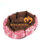 Red With White Polka Dots Comfy Kennel Dog Bed
