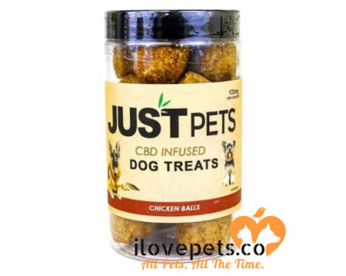 CBD infused dog treats chicken flavored