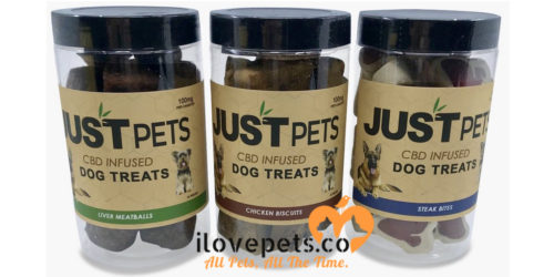 CBD infused dog treats by Just PETS