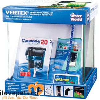 water world vertex 5 gallon aquarium kit box