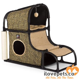Catville Loft in Leopard Print By Prevue Pet Products