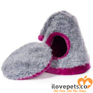 Cozy Cap Plush Cat And Kitten Hideway By Prevue Pet Products