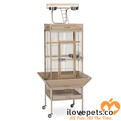 Small Wrought Iron Select Bird Cage coco brown