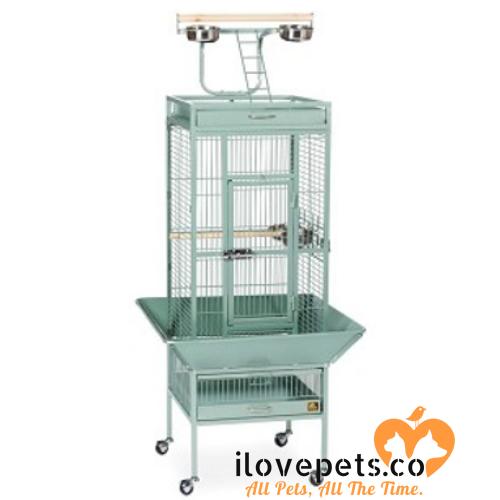Small Wrought Iron Select Bird Cage Pewter