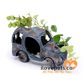 Sunken Gardens Car Wreck Aquarium Ornament