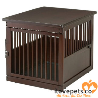 Medium Wood Dog Crate End Table By Richell