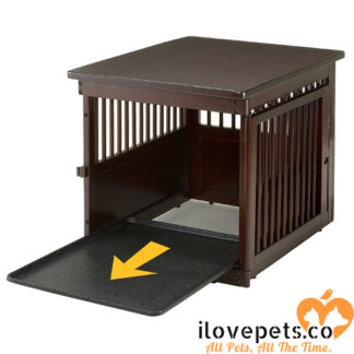 Medium Wood Dog Crate End Table With Removable Tray By Richell